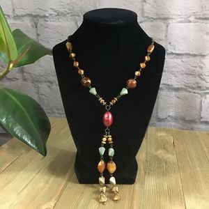 🍰 SALE! 3/$20 Beaded two strand boho necklace